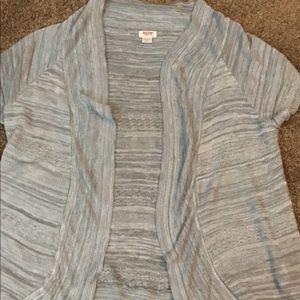 gray short sleeve cardigan Size XXL